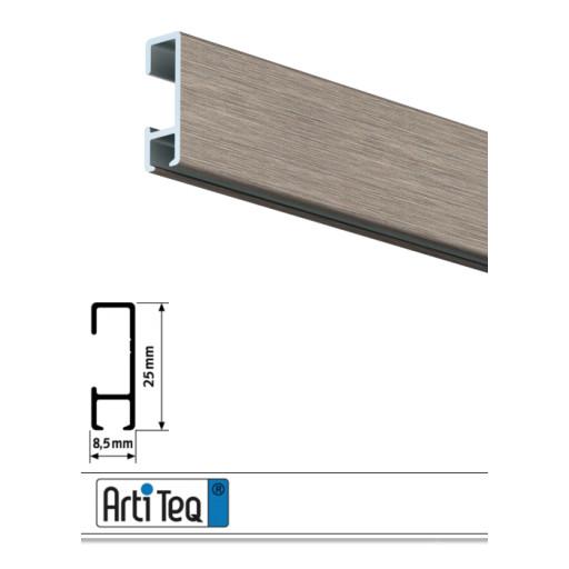 bilderschiene click rail alu geb rstet 200 cm bilderschienen galerieschienen zubeh r. Black Bedroom Furniture Sets. Home Design Ideas
