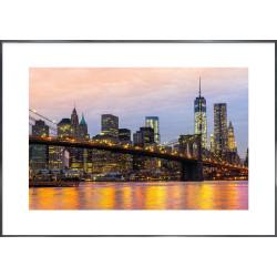 "Nielsen Gerahmtes Bild ""Brooklyn Bridge at Night"" 118,9 x 84,1 cm"