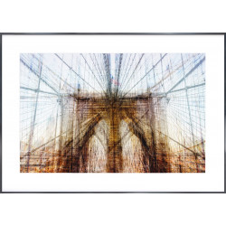 "Nielsen Gerahmtes Bild ""Brooklyn Bridge"" 118,9 x 84,1 cm"