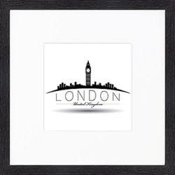"""Nielsen Gerahmtes Bild """"London"""" 30,0 x 30,0 cm"""