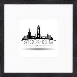 "Nielsen Gerahmtes Bild ""Stockholm"" 30,0 x 30,0 cm"