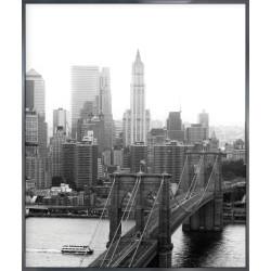 "Nielsen Gerahmtes Bild ""Brooklyn Bridge B&W"" 50,0 x 60,0 cm"