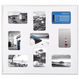 Collage-Rahmen Pixel mit 9 Bildausschnitten