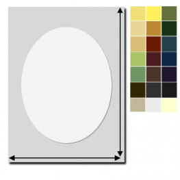 Passepartout Rechteck / Ausschnitt Oval nach Maß